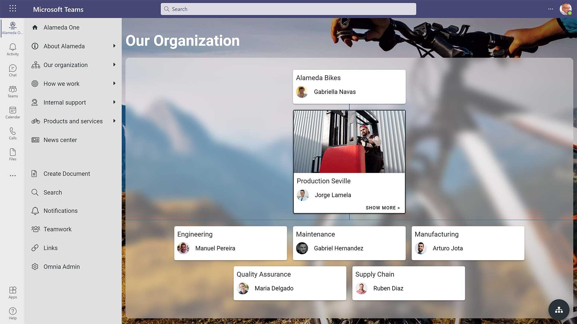 Vores organisation  i Microsoft Teams